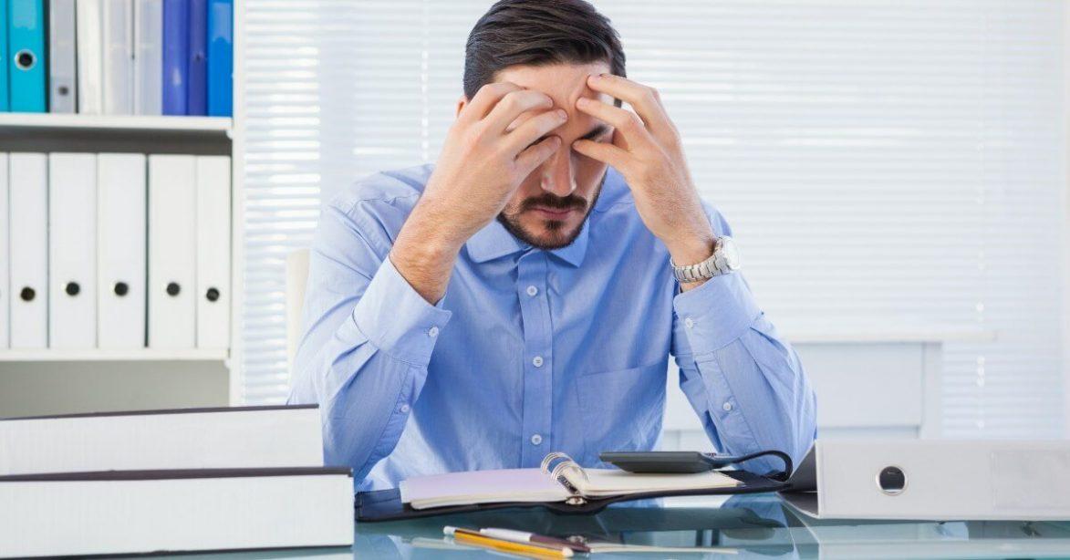 anxious at desk